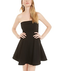 B Darlin Juniors' Strapless A-Line Dress, Created for Macy's