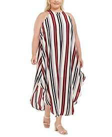 Trendy Plus Size Striped Maxi Dress