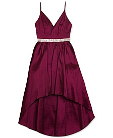 Big Girls High-Low Taffeta Dress