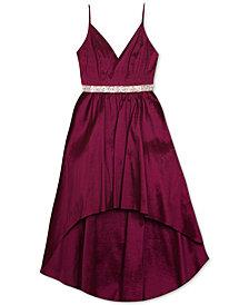 Rare Editions Big Girls High-Low Taffeta Dress