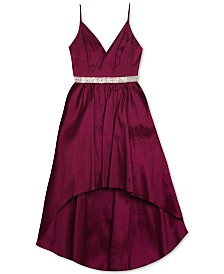 Rare Editions Big Girls High-Low Taffeta Dress