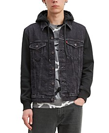 Men's Hybrid Hooded Trucker Jacket