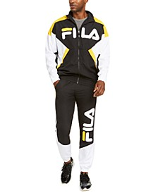 Men's Colorblock Logo Windbreaker & Joggers