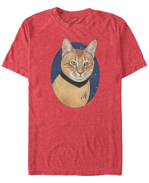Star Trek Men's The Original Series Cat-Tain Kirk Short Sleeve T-Shirt