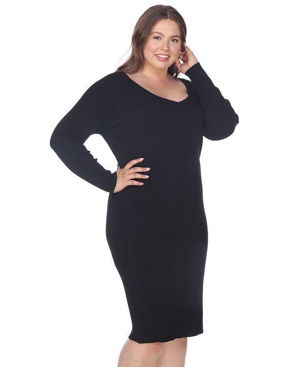 White Mark Women's Plus Size Destiny Sweater Dress