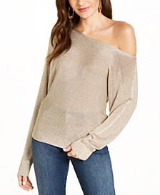 Metallic-Knit Sweater