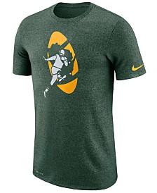 Nike Men's Green Bay Packers Marled Historic Logo T-Shirt