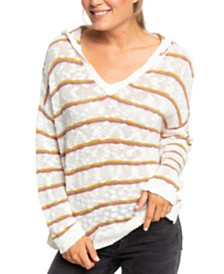 Roxy Juniors' Sandy Bay Beach Cotton Striped Top