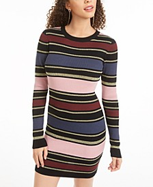 Juniors' Striped Bodycon Dress