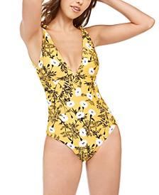 Juniors' Wavy Soul Printed One-Piece Swimsuit