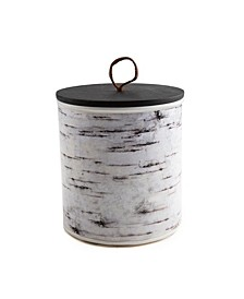 CLOSEOUT! 3.5 Qt Metal Birch Art Canister - Large
