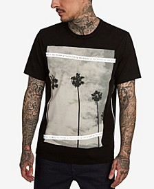 Men's Palm Tree Photo Print T-Shirt