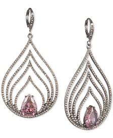 Jenny Packham Hematite-Tone Crystal & Stone Multi-Row Drop Earrings
