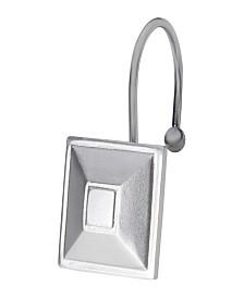 Kenney Ella Rust-Proof Aluminum Decorative Shower Curtain Hooks
