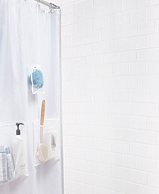 Medium Weight Mildew-Resistant Shower Curtain Liner with Pockets