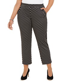 Michael Michael Kors Plus Size Mod Dot Pull-On Trousers