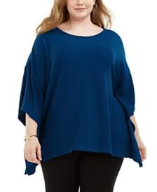 Alfani Plus Size Knit Cape Top, Created for Macy's