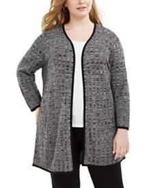 Alfani Plus Size Textured Cardigan, Created for Macy's