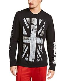 Men's Studded Union Jack Long Sleeve T-Shirt