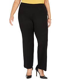 Plus Size Pull-On Compression-Waist Pants