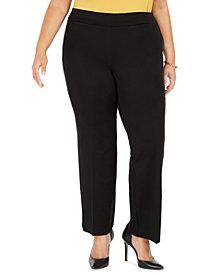 Kasper Plus Size Pull-On Compression-Waist Pants