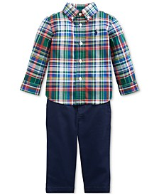 Baby Boys Plaid Shirt & Pants