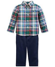 Baby Boys Plaid Shirt & Pants