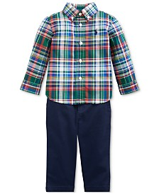 Polo Ralph Lauren Baby Boys Plaid Shirt & Pants