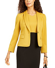 Shaw-Collar One-Button Blazer