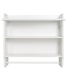 Redmon Contemporary Country Wall Shelf with Towel Bar
