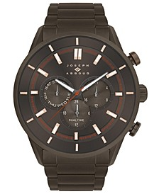 Men's Analog Brown Stainless Steel Bracelet Watch 28mm