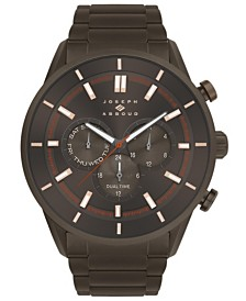 Joseph Abboud Men's Analog Brown Stainless Steel Bracelet Watch 28mm