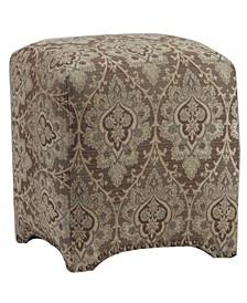 Emma Cube Upholstered Nailhead Ottoman