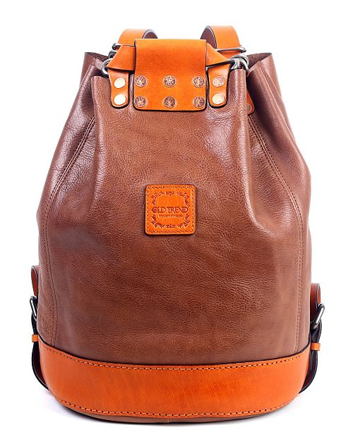 OLD TREND Stars Align Leather Backpack