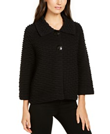 JM Collection Textured Sweater Jacket, Created for Macy's