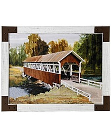 Country Pass Textured Framed Print