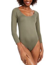 Bar III Scoop Neckline Bodysuit, Created for Macy's