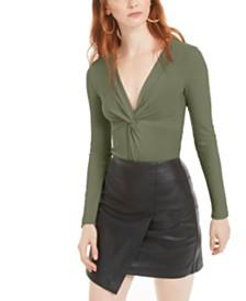 Bar III Twisted Thong Bodysuit, Created for Macy's