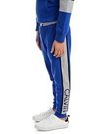 Little Boys Rugby Side Stripe Fleece Joggers