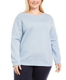 Karen Scott Plus Size Fleece Sweatshirt, Created For Macy's