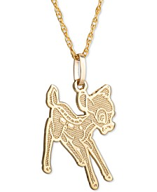 "Children's Bambi 15"" Pendant Necklace in 14k Gold"