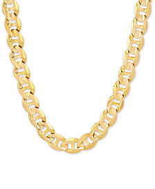 "Italian Gold Men's Marine Link 22"" Chain Necklace in 10k Gold"