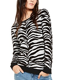 I.N.C. Zebra-Print Sweater, Created for Macy's