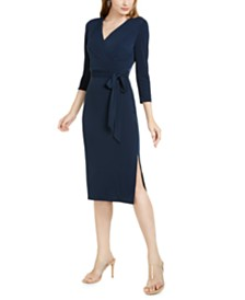 I.N.C. Side-Tie Faux-Wrap Dress, Created for Macy's