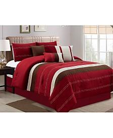 Luxlen Hunnicutt 7 Piece Comforter Set, King