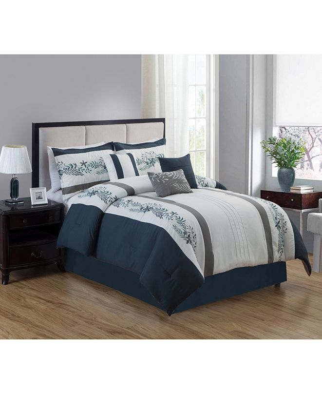 Luxlen Isanti 7 Piece Comforter Set, King