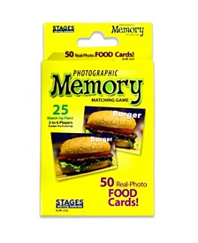 Stages Learning Materials - Picture Memory Card Game - Foods