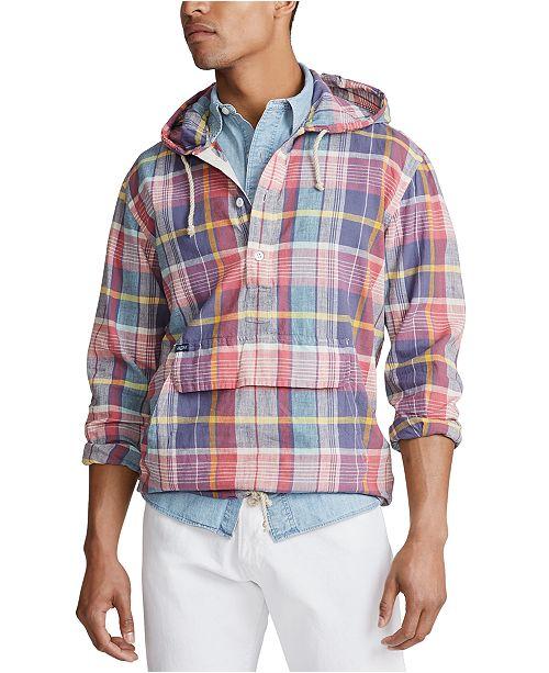 Polo Ralph Lauren Men's Pastel Plaid Hoodie