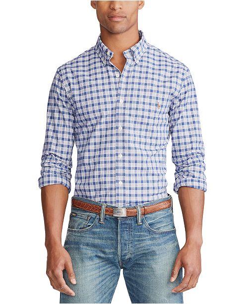 Polo Ralph Lauren Men's Slim Fit Plaid Stretch Button-Down Shirt