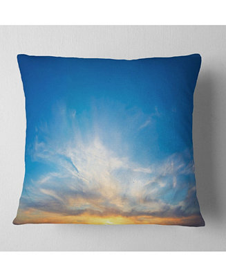 Design Art Designart Bright Blue Evening Sky Panorama